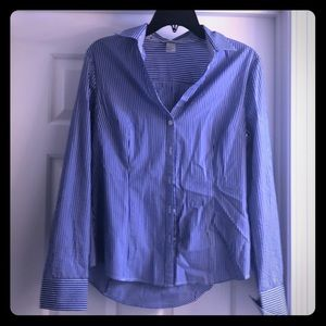 Blue & White H&M Button-Down Shirt